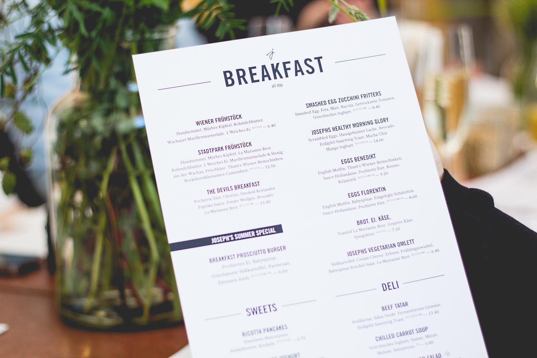 Joseph Genuss Frühstück