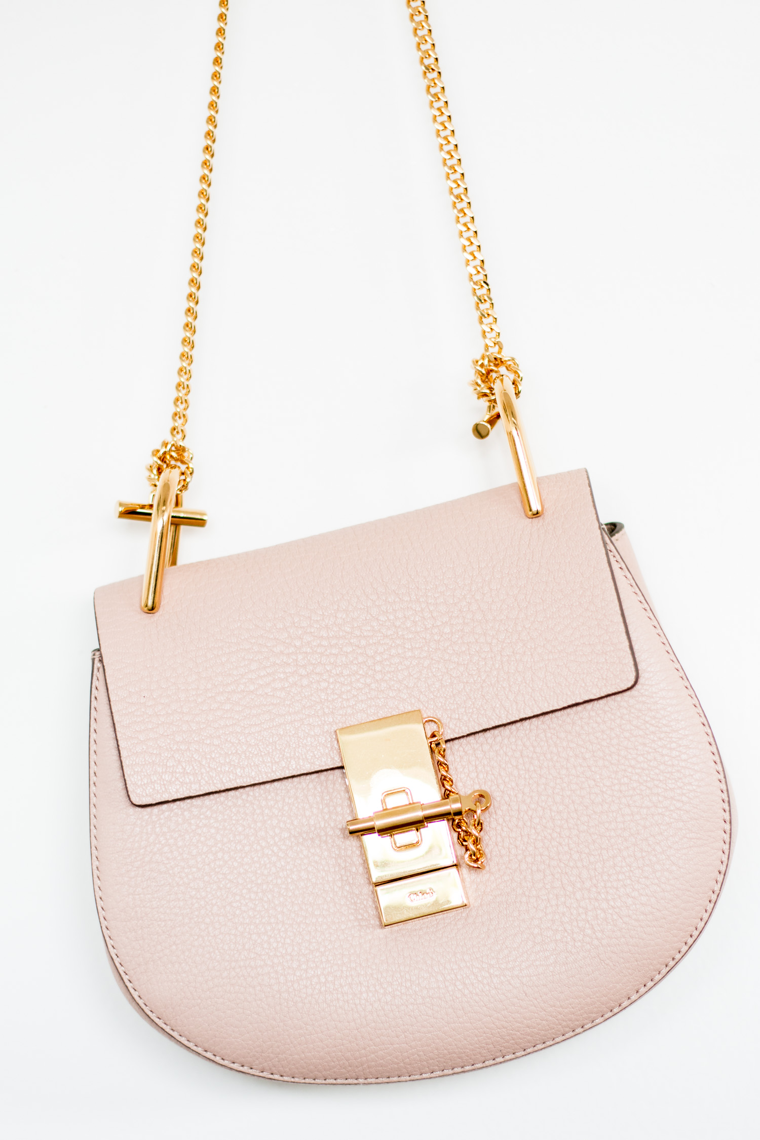 Chloe Drew Mini Bag in Cement Pink