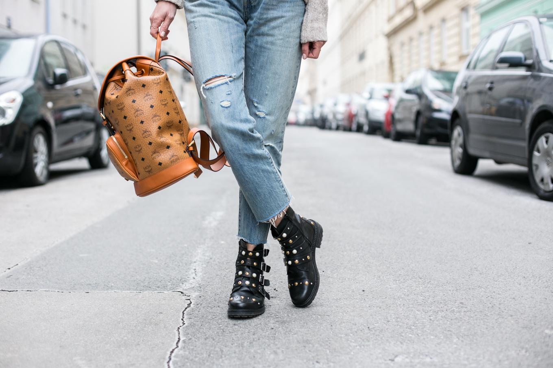 MCM Heritage Backpack, Levis 501 CT Jeans, Kurt Geiger Boots